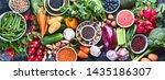 healthy eating ingredients ...   Shutterstock . vector #1435186307