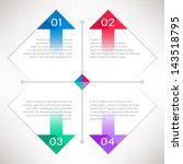 information templates with... | Shutterstock .eps vector #143518795