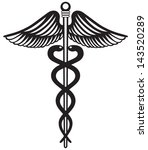 symbol medical caduceus... | Shutterstock .eps vector #143520289