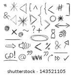 miscellaneous doodle symbols ...   Shutterstock .eps vector #143521105