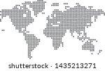 dotted blank black map vector   Shutterstock .eps vector #1435213271