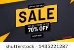 sale banner template design ... | Shutterstock .eps vector #1435221287