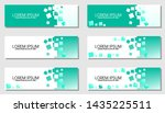 set of horizontal banner... | Shutterstock .eps vector #1435225511