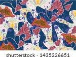 indonesian batik motifs consist ... | Shutterstock .eps vector #1435226651