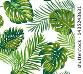 retro dark palm leaves... | Shutterstock .eps vector #1435243631