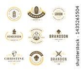 bakery logos and badges design... | Shutterstock .eps vector #1435265504