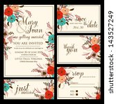 wedding invitation  thank you... | Shutterstock .eps vector #143527249