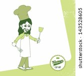 vintage page theme chef with... | Shutterstock .eps vector #143528605
