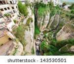Small photo of Ronda canyon, Andalusia, Spain American artists Ernest Hemingway and Orson Welles spent many summers in Ronda