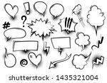 comic text speech bubble pop... | Shutterstock .eps vector #1435321004