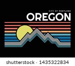 mountain illustration  outdoor... | Shutterstock .eps vector #1435322834