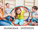 laughing children playing in a... | Shutterstock . vector #143533231