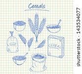 illustration of cereals ink... | Shutterstock .eps vector #143534077