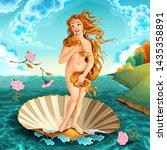 interpretation of venus  famous ... | Shutterstock .eps vector #1435358891