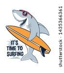 surfer shark vector... | Shutterstock .eps vector #1435366361