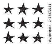 set of black hand drawn star.... | Shutterstock .eps vector #1435373351