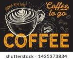 coffee illustration for... | Shutterstock .eps vector #1435373834