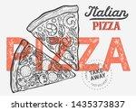 pizza illustration for... | Shutterstock .eps vector #1435373837