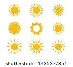sun icon set vector... | Shutterstock .eps vector #1435377851