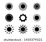sun icon set vector illustration   Shutterstock .eps vector #1435379321
