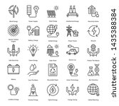 clean energy line icons pack is ... | Shutterstock .eps vector #1435388384