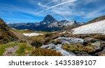 a view of pic du midi ossau in... | Shutterstock . vector #1435389107