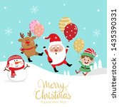 merry christmas greeting card... | Shutterstock .eps vector #1435390331