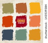 grunge ink hand drawn colorful... | Shutterstock .eps vector #143539384