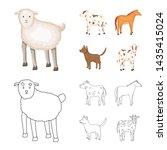vector design of breeding and... | Shutterstock .eps vector #1435415024