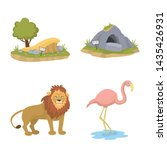 Vector illustration of zoo and park logo. Set of zoo and animal stock vector illustration.