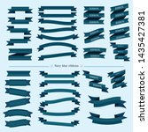 blue and navy blue ribbons... | Shutterstock .eps vector #1435427381