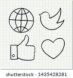 hand drawn vector illustration... | Shutterstock .eps vector #1435428281