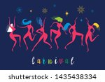 dancing women  vector... | Shutterstock .eps vector #1435438334