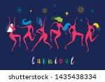 dancing women  vector... | Shutterstock .eps vector #1435438334