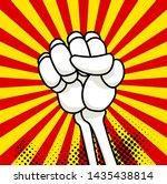 skeleton bone fist comic book ... | Shutterstock . vector #1435438814