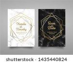 wedding invitation card design... | Shutterstock .eps vector #1435440824