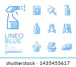 lineo blue   cleaning and... | Shutterstock .eps vector #1435455617