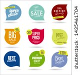 modern sale badges and labels... | Shutterstock . vector #1435461704