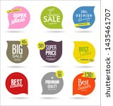 modern sale badges and labels... | Shutterstock . vector #1435461707