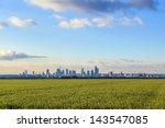 Skyline Of Frankfurt With...