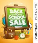 back to school sale vector... | Shutterstock .eps vector #1435472741