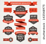 vector vintage sale labels and... | Shutterstock .eps vector #143548975