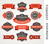 vector vintage sale labels and... | Shutterstock .eps vector #143549011