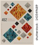retro squares poster. vector... | Shutterstock .eps vector #143549689