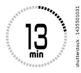 the 13 minutes countdown timer...