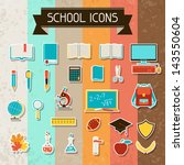 school and education sticker... | Shutterstock .eps vector #143550604
