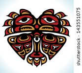 vector indian pattern in the...   Shutterstock .eps vector #143551075