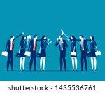 serious trade tension or trade... | Shutterstock .eps vector #1435536761