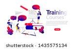 training courses horizontal... | Shutterstock . vector #1435575134