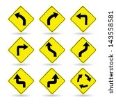 doodle traffic signs  vector... | Shutterstock .eps vector #143558581